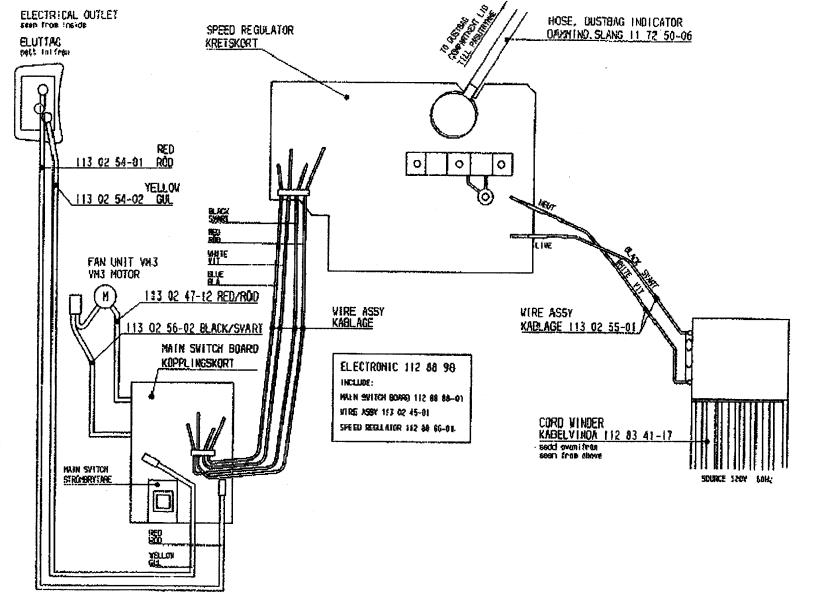 riccar vacuum wiring diagram schematic