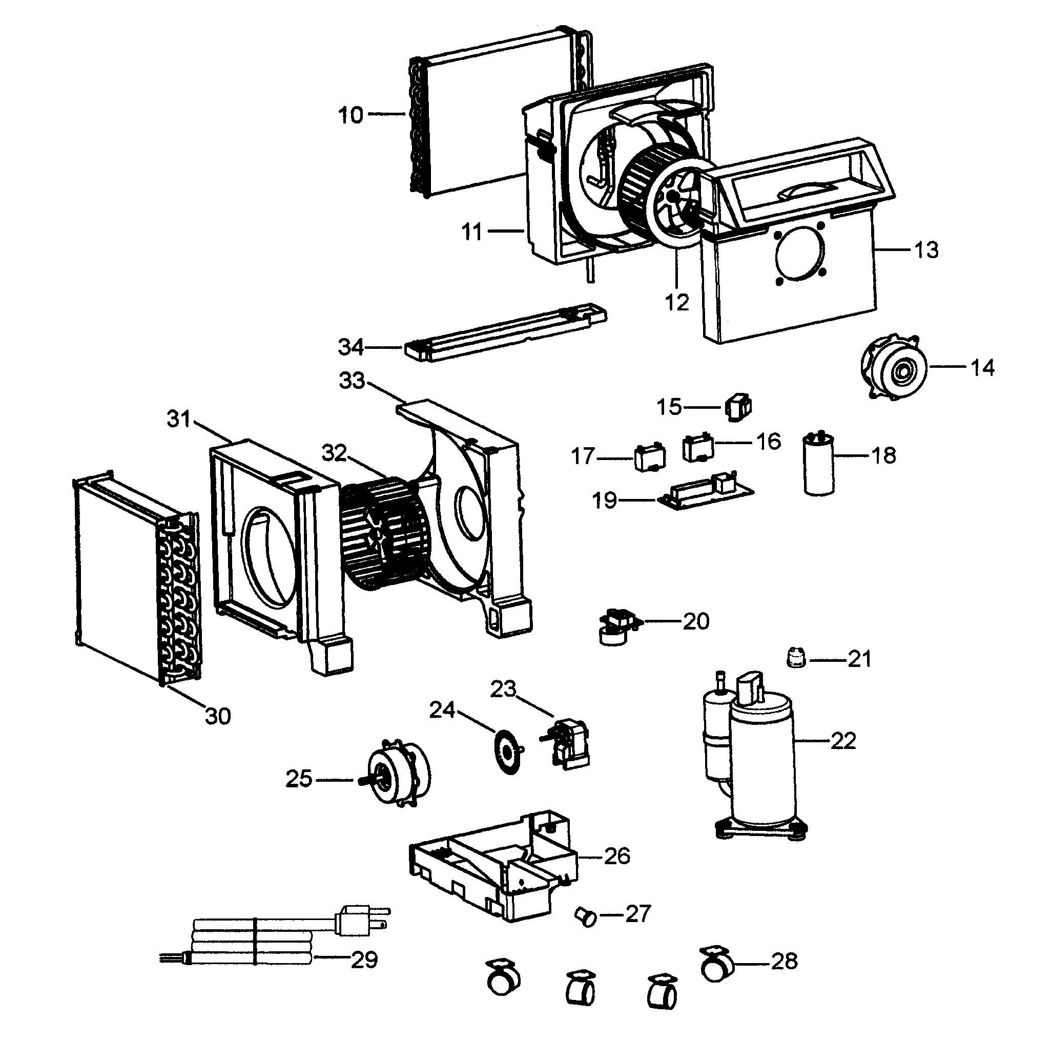 Delonghi portable air conditioner parts model pacc120 sears partsdirect