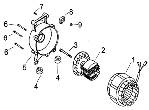 GENERATOR Diagram & Parts List for Model apg3004a All