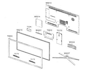 SAMSUNG LED TELEVISION Parts | Model un55c8000xfxza
