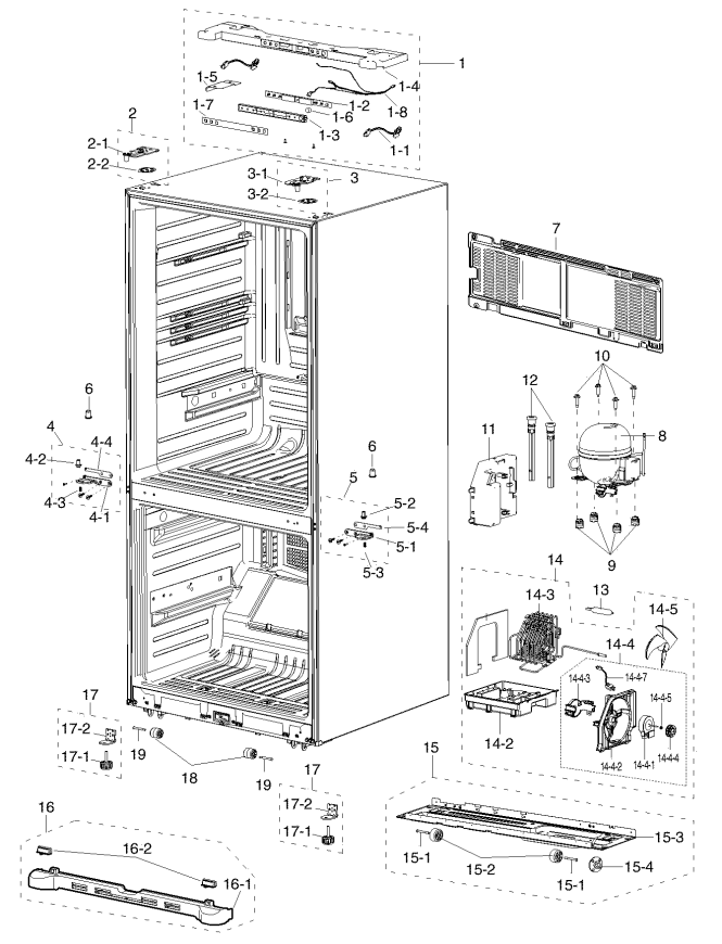 Samsung French Door Refrigerator Parts The Best Refrigerator 2018