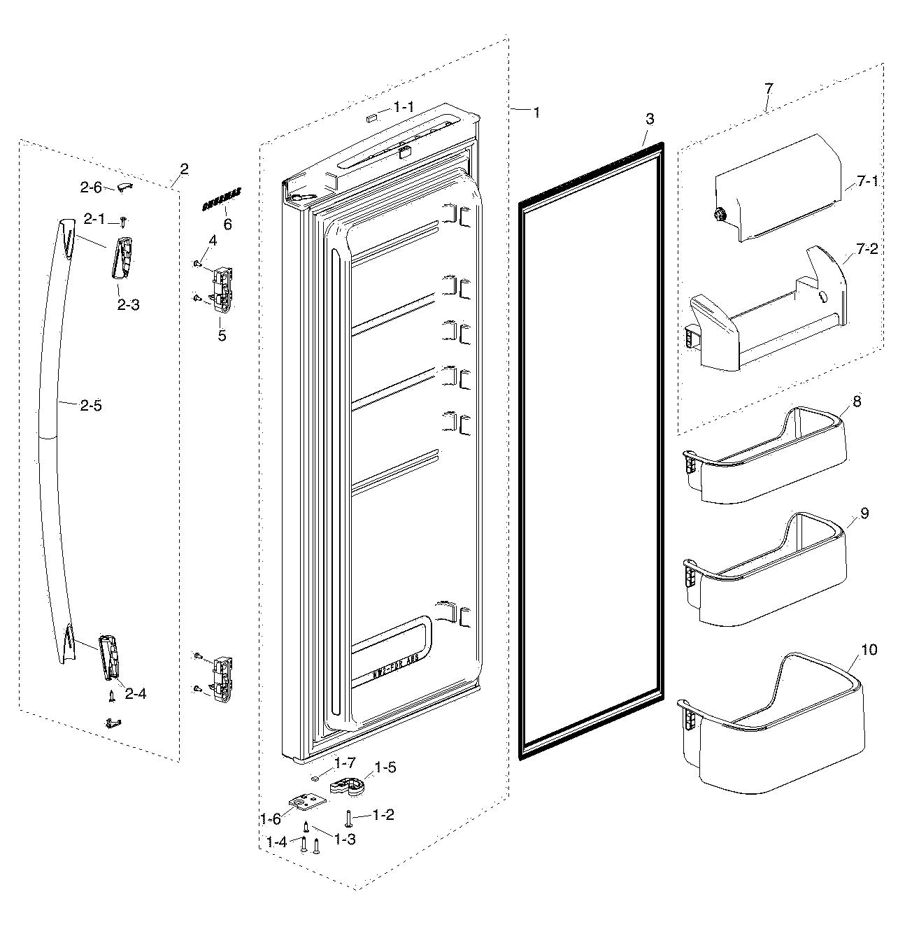 For My Samsung Refrigerator Schematic Rf217acbp Wiring Diagram