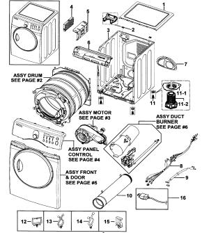 SAMSUNG DRYER Parts | Model DV218AGWXAA0000 | Sears