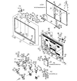 SHARP LED TELEVISION Parts | Model LC60LE650U | Sears PartsDirect