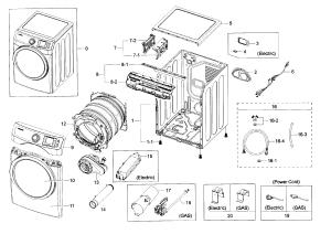 SAMSUNG DRYER Parts | Model dv42h5200gpa30000 | Sears