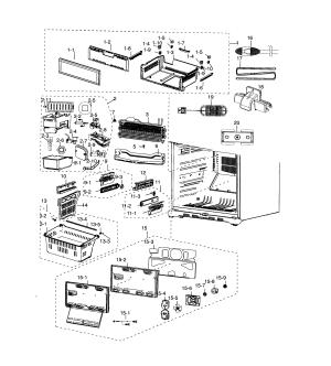 SAMSUNG REFRIGERATOR Parts   Model rf18hfenbbcaa0000