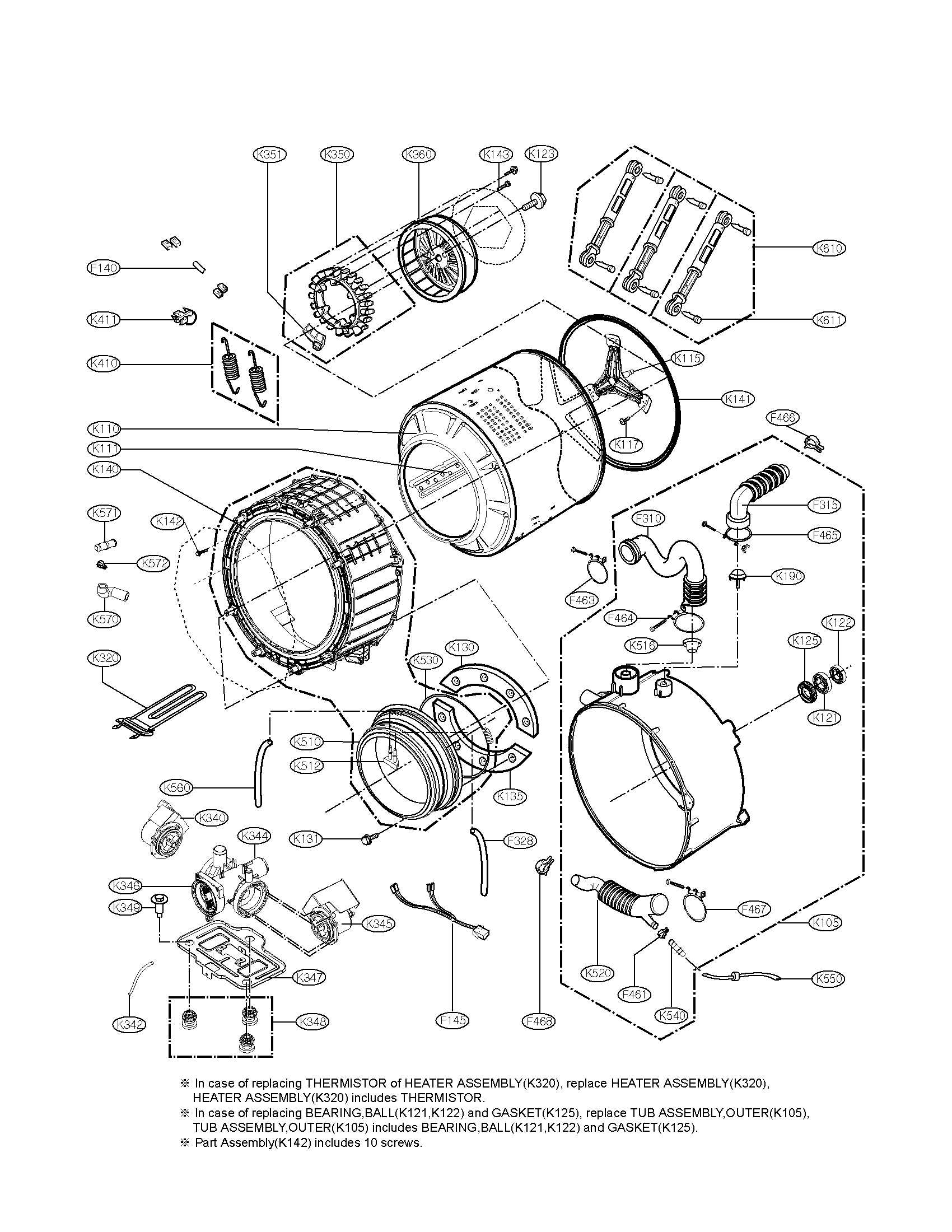 Lg washing machine parts model wm3360hwca sears partsdirect