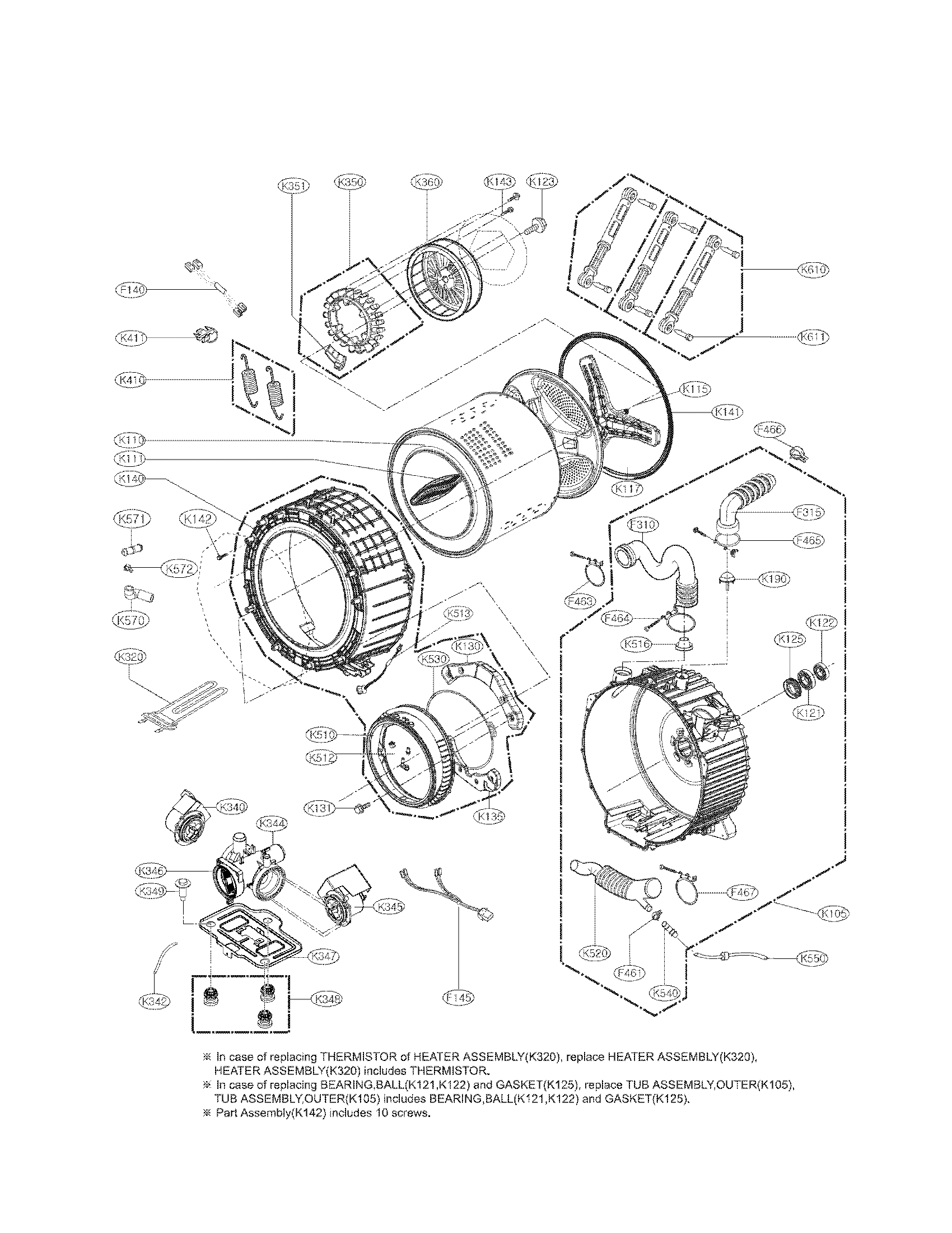 Lg Washer Replacement Parts