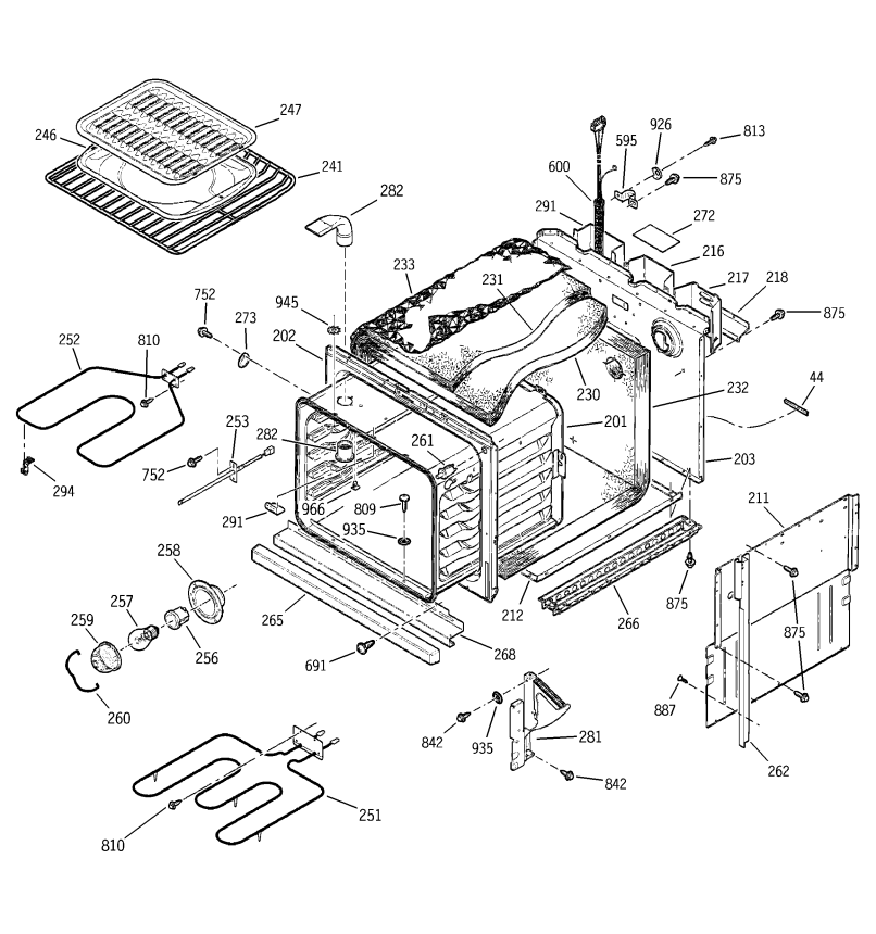 Ge Electric Oven Parts Diagram