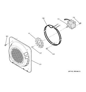 CONVECTION FAN Diagram & Parts List for Model jt965sk4ss
