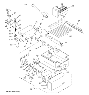 ICE MAKER & DISPENSER Diagram & Parts List for Model