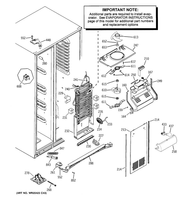 Hotpoint Fridge Freezer Parts Diagram
