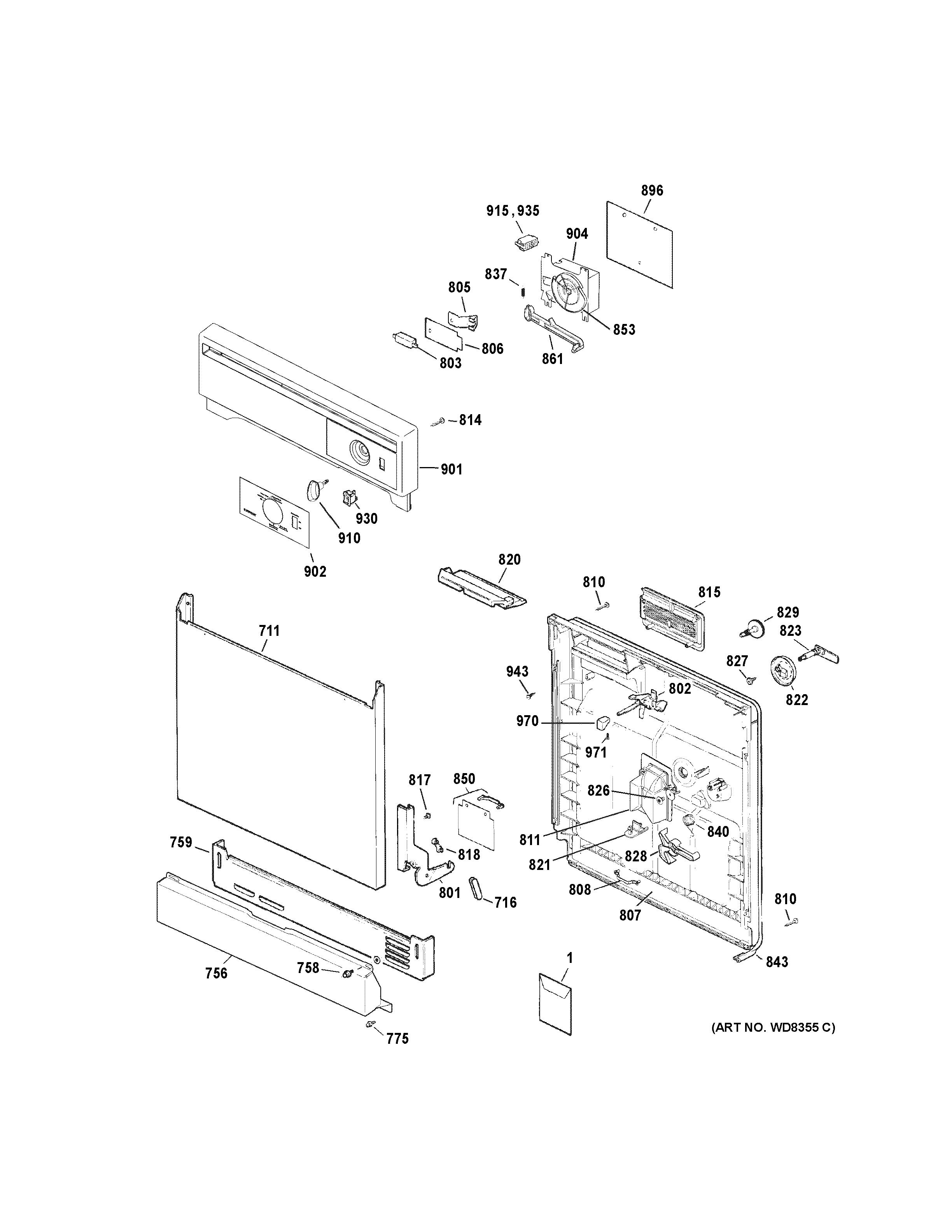 Hotpoint model hda2100v35ww dishwasher genuine parts rh searspartsdirect