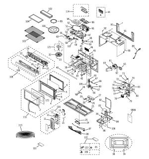 MICROWAVE Diagram & Parts List for Model jvm1870sf001 GE