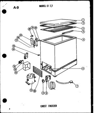 AMANA COMPACT CHEST FREEZER Parts | Model CI77 | Sears