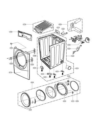CABINET & DOOR Diagram & Parts List for Model dlg5966w LG