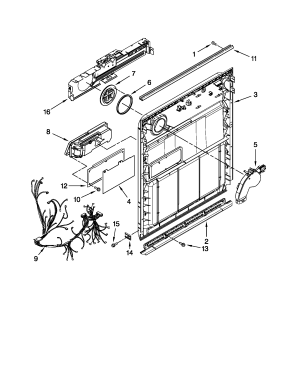 INNER DOOR PARTS Diagram & Parts List for Model