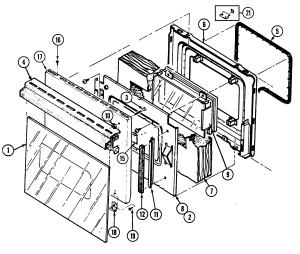 DOOR Diagram & Parts List for Model 9895vrv Magicchef