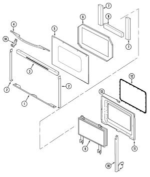 JENNAIR Electric SlideIn Range Parts | Model SVE47600B