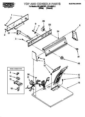 ROPER ELECTRIC DRYER Parts | Model REL4632DW1 | Sears