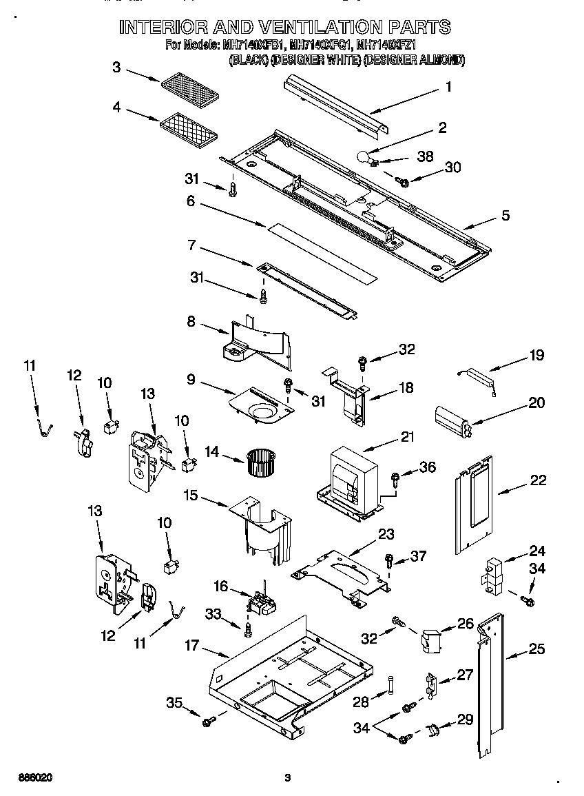 whirlpool mh7140xfb1 microwave hood
