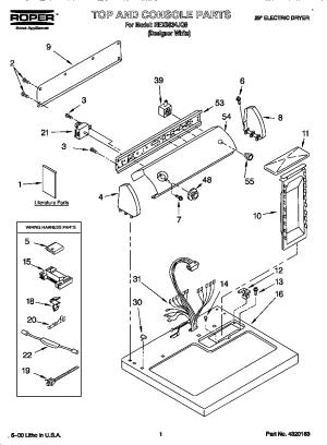 ROPER ELECTRIC DRYER Parts | Model REX5634JQ0 | Sears