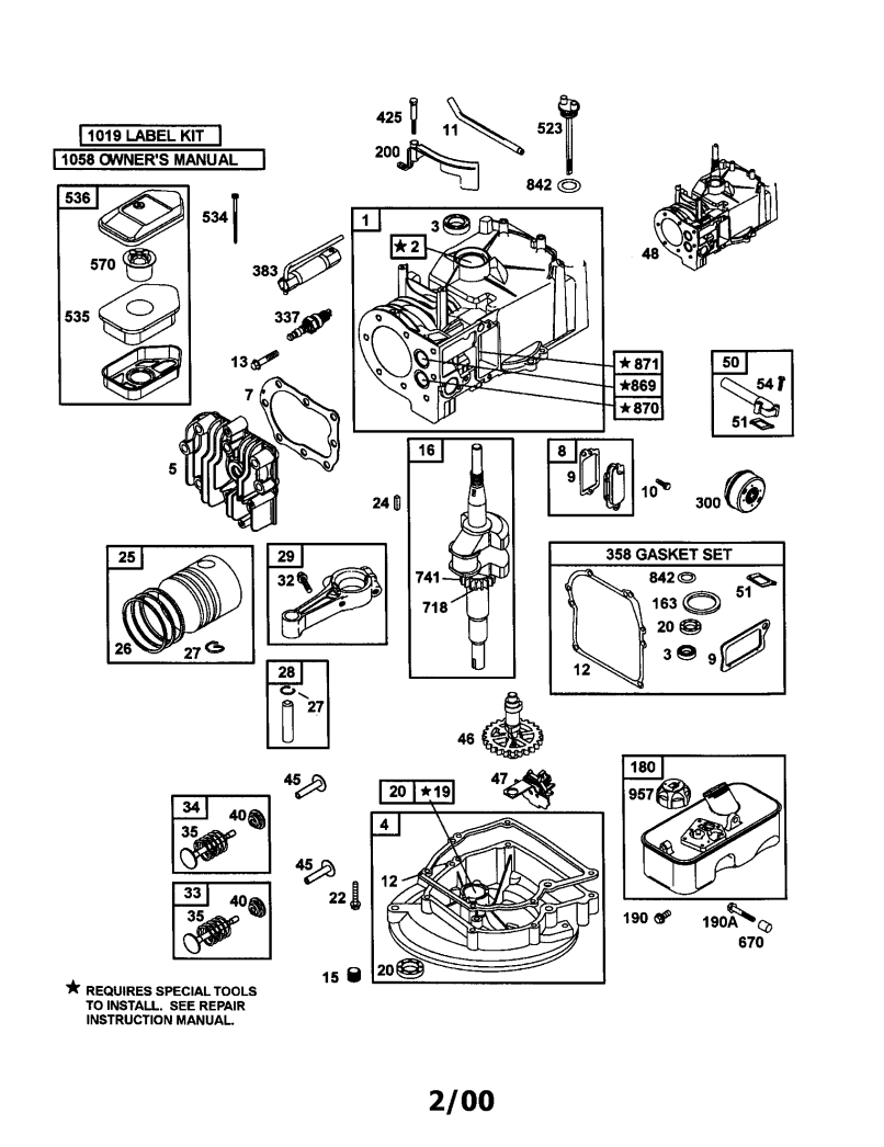 Spare Parts Briggs Stratton Engines And 92900 Series List Diagram Adelaide Newmotorku Co