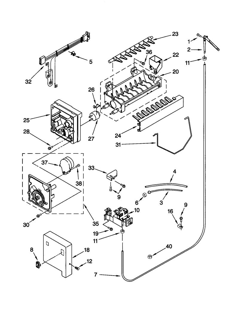 kenmore elite refrigerator parts ice maker