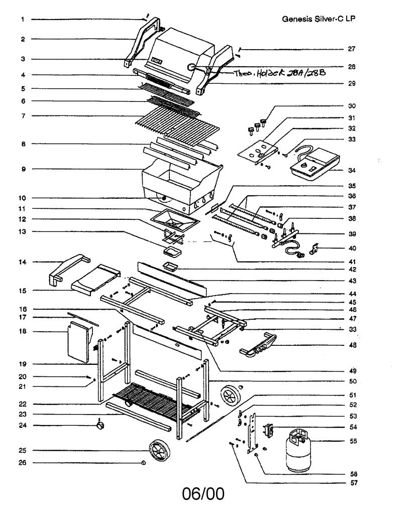Weber Genesis Silver C Gas Grill Parts