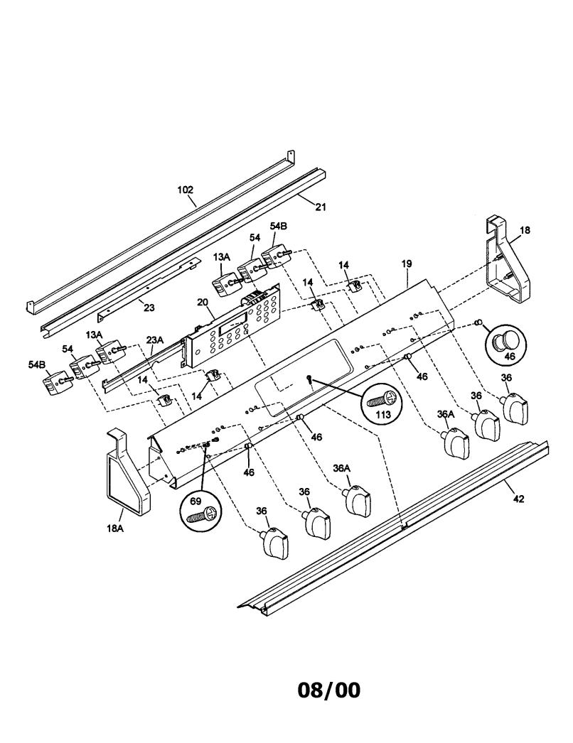 Kenmore 970 445341 Electric Range Parts