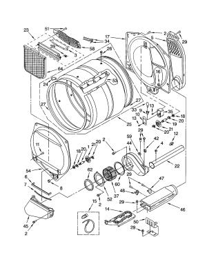 BULKHEAD Diagram & Parts List for Model 11062082101 KenmoreParts DryerParts | SearsPartsDirect