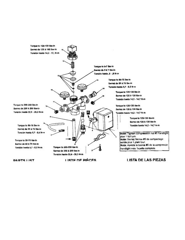 MANIFOLD/GAUGE/PRESSURE SWITCH Diagram & Parts List for ...