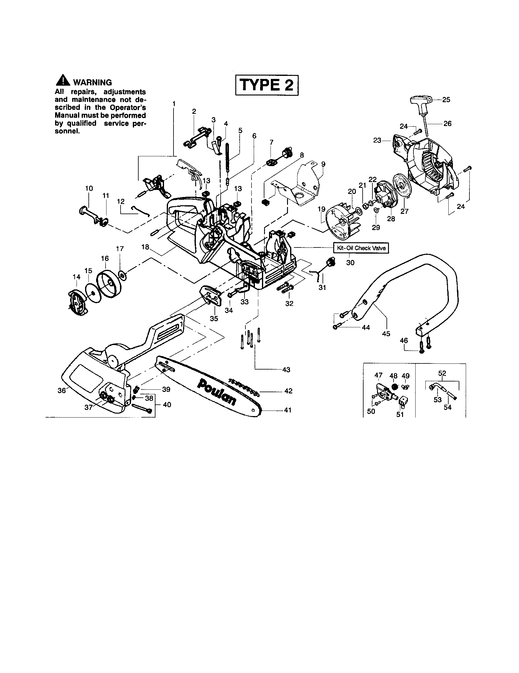 Poulan 2150 Fuel Line Diagram