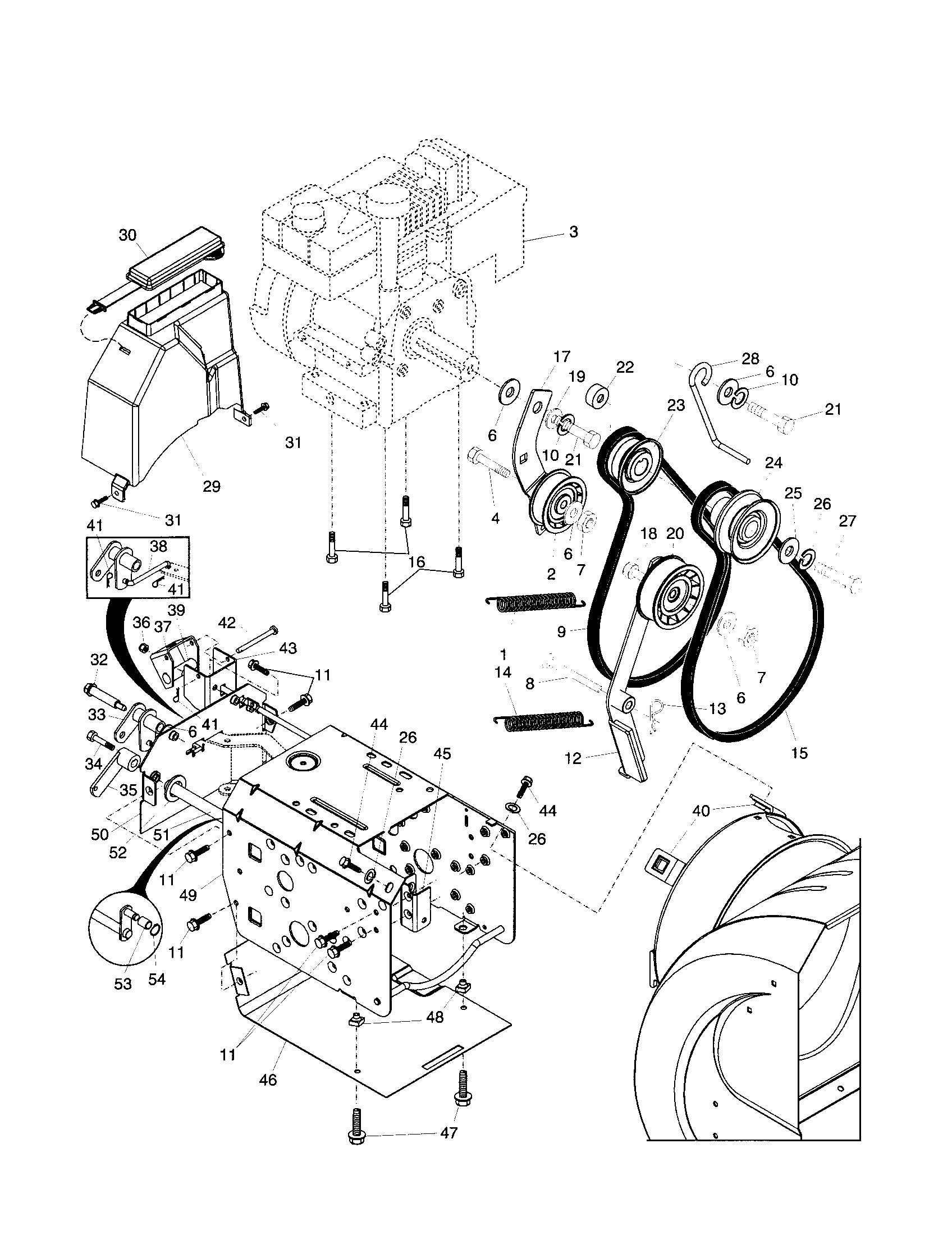 Husqvarna snow thrower parts model 10527ste sears partsdirect