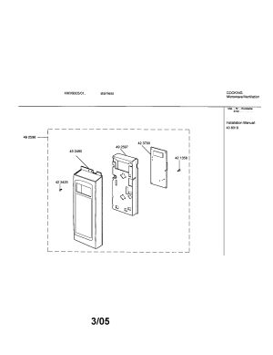 BOSCH MICROWAVEVENTILATION Parts   Model hmv930501