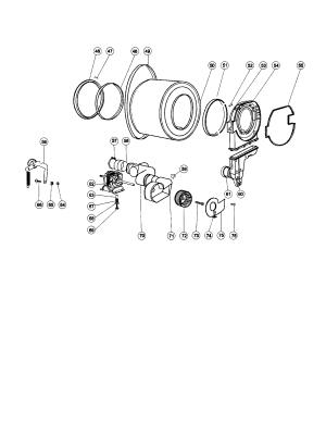 DRUM ASSEMBLY Diagram & Parts List for Model gdz51 Haier