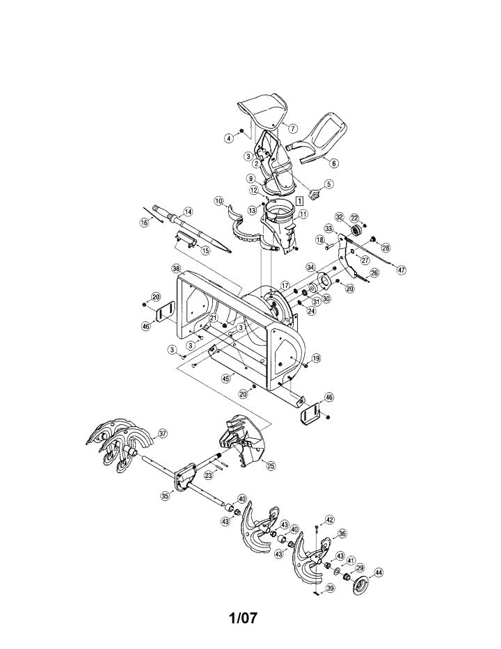 Model 247882551 | CRAFTSMAN SNOW THROWER Parts
