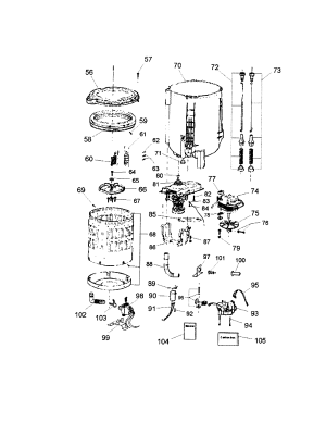 TUB Diagram & Parts List for Model hlp21e HaierParts WasherParts   SearsPartsDirect