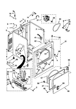 KENMORE Gas Dryer Cabi Parts | Model 11076712695 | SearsPartsDirect