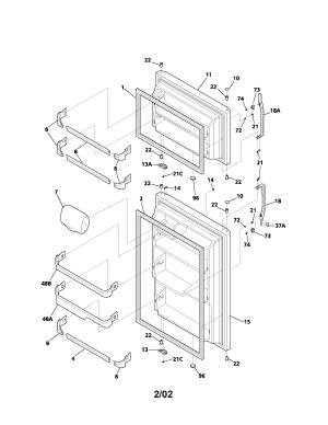 KENMORE TOPMOUNT REFRIGERATOR Parts | Model 25371832104