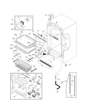 CABINET Diagram & Parts List for Model 25344733100 Kenmore