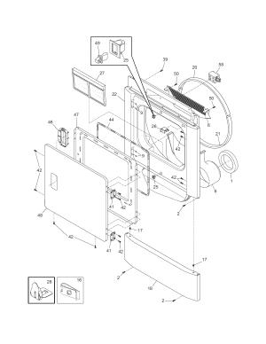 FRONT PANELLINT FILTER Diagram & Parts List for Model