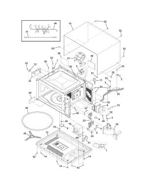 MICROWAVE Diagram & Parts List for Model fpmc3085kfa