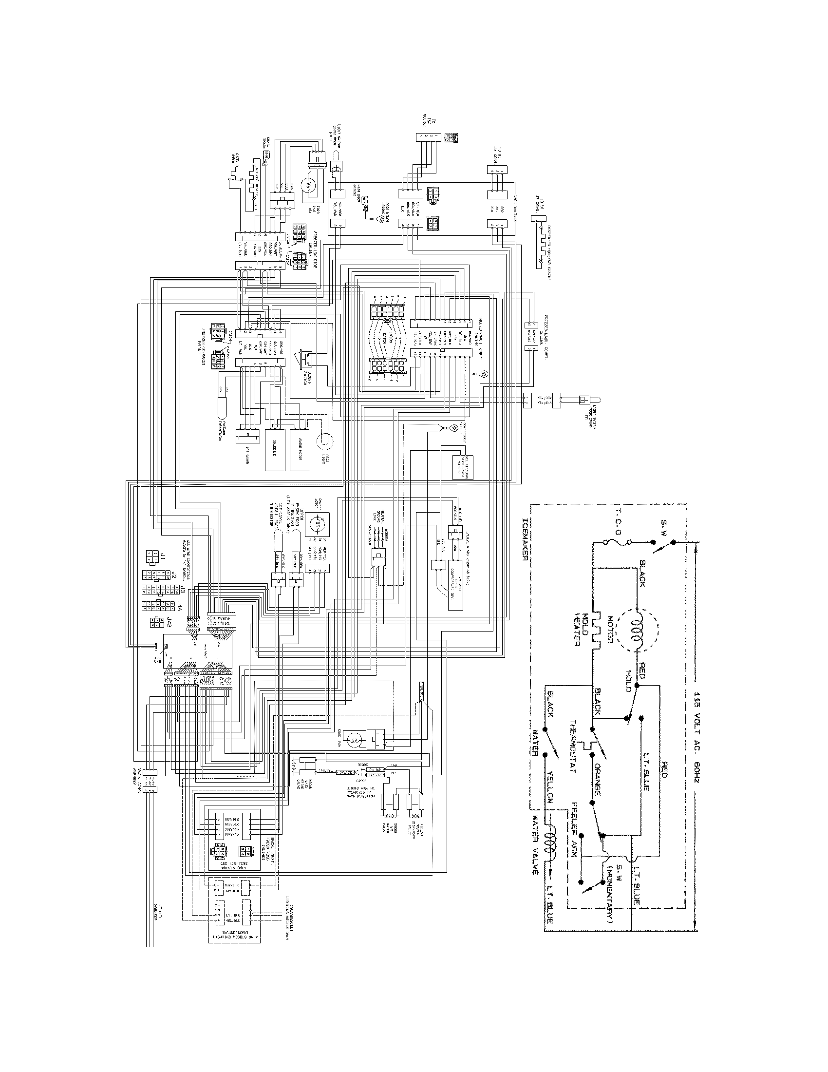 Frigidaire model fghs2631pp3 side by side refrigerator genuine parts rh searspartsdirect 3 way switch wiring diagram schematic circuit diagram