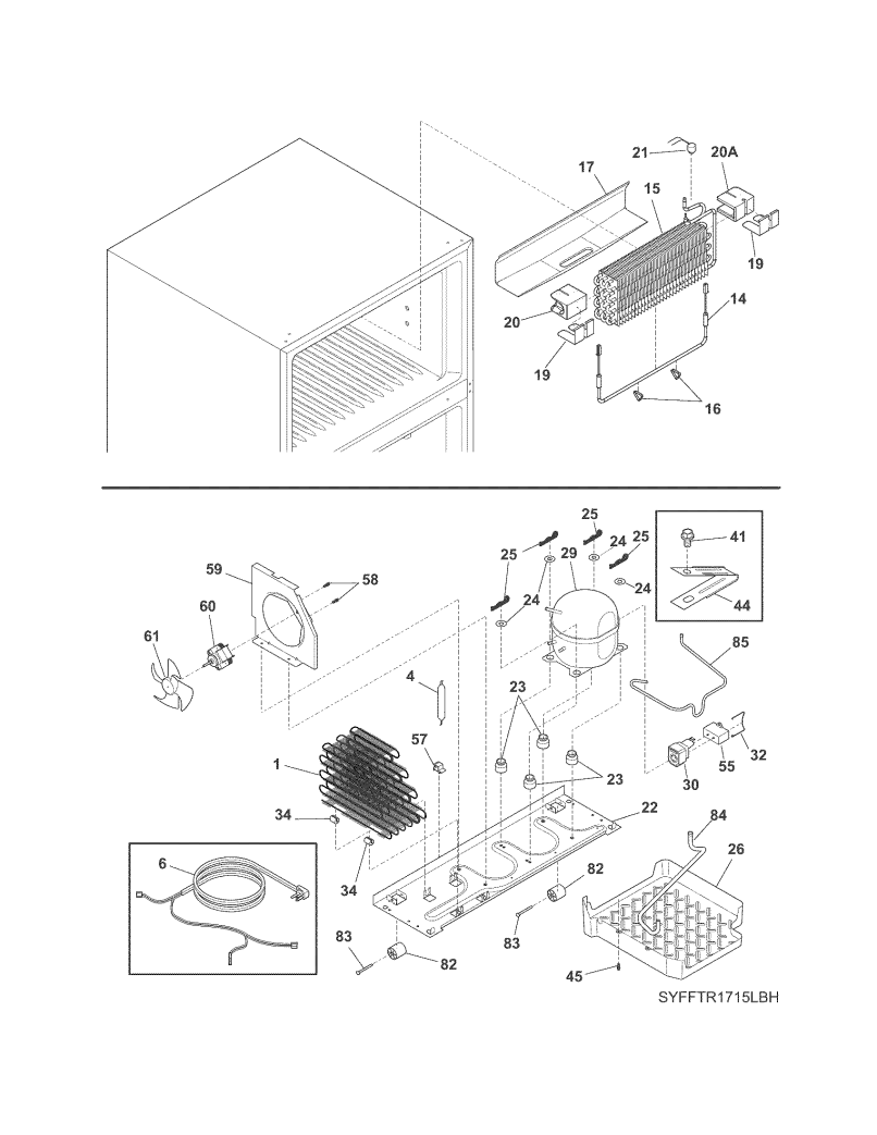 Frt18g2nwa Top Mount Refrigerator Parts