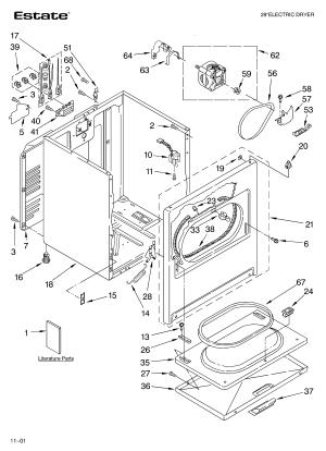 ESTATE DRYER Parts | Model TEDS740JQ1 | Sears PartsDirect