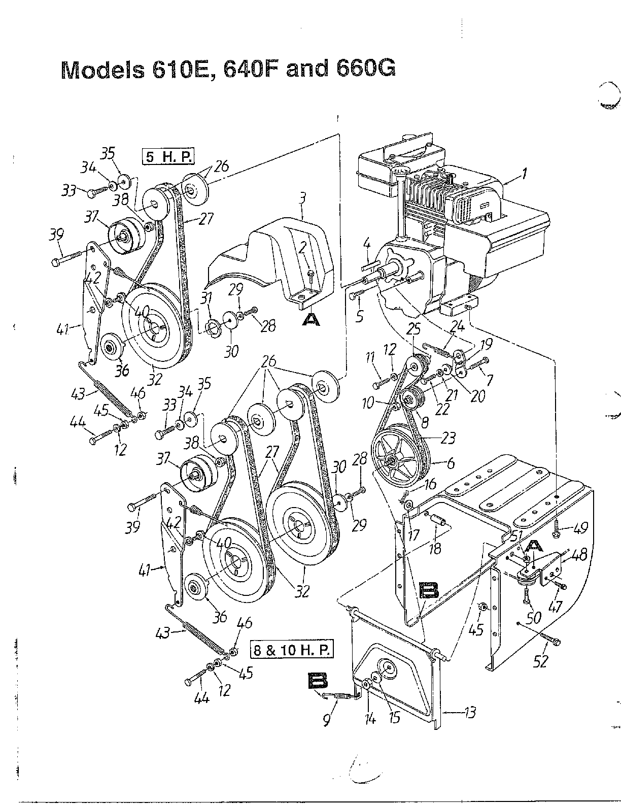 Snow Thrower Parts : Old mtd snowblower parts