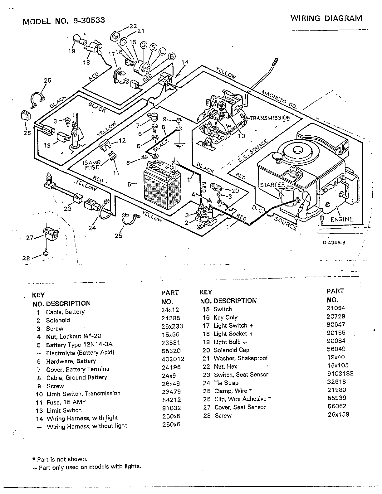 WL000265 00013?resize=665%2C861 electrical wiring diagram murray riding mower model 405011x92a  at webbmarketing.co