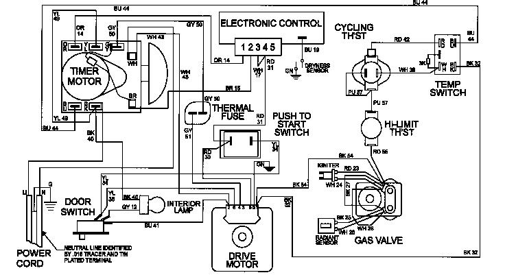 MAYTAG Gas Dryer Gas Valve Parts