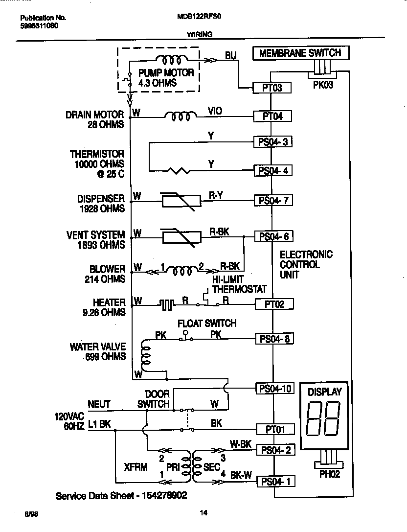 Ge Dishwasher Wiring Diagrams Sample Wiring Diagrams Appliance Aid